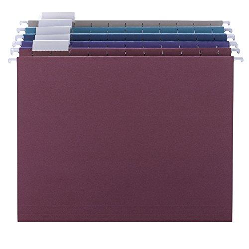 SMEAD 64056Designer Sortiment zum Aufhängen Ordner Letter Assorted Jewel Tones