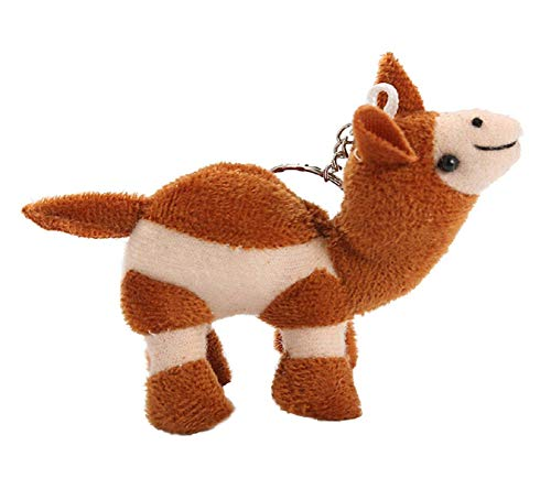 Bobopai cute Soft Camel key-ring pet key-chain key-tag animal-lovers gift toy keys-carrier figurine gadget pendant ornaments, Keychain for Men Women Car Key Bag, Soft Party Bag Filler Toy Gift (Brown)