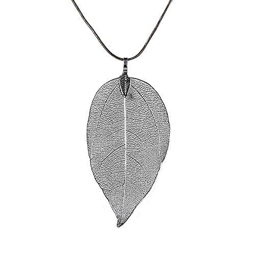 Yvelands Spezielle Blätter Blatt Pullover Anhänger Halskette Damen Lange Kette Schmuck