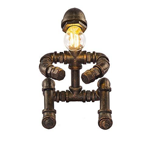 WETRR Vintage Desk Lamp, Dimmable Retro Industrial Desk Light Iron Pipe Lamps ist perfekt für Schlafzimmer, Wohnzimmer, Studierendenraum