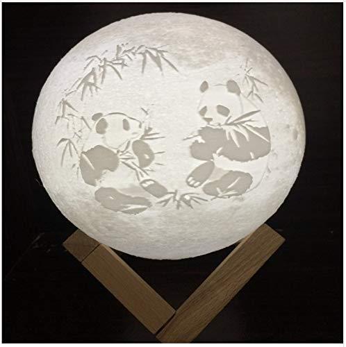 Wiederaufladbare Led Nachtlicht 3D Print Panda Moon Lampen Chinesischen Stil Nachtlicht Für Schlafzimmer Mond Nachtlicht