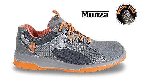 Schuhe Arbeit Schuh Herren Sicherheitsschuh BETA Mod.Monza Wildleder Niedrig Grau und Orange von 41bis 44
