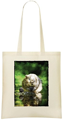 Biber Feaver – Beaver Feaver Custom Printed Grocery Tote Bag – 100% Soft Cotton – Eco-Friendly & Stylish Handbag For Everyday Use – Custom Shoulder Bags