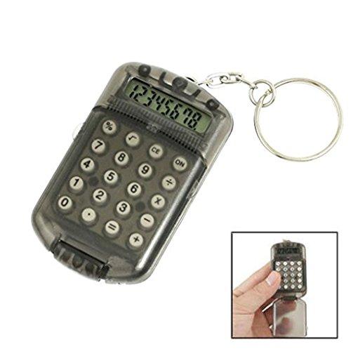 Winkey Schlüsselring mit elektronischem Mini-Taschenrechner, Kunststoffgehäuse, 8 Ziffern