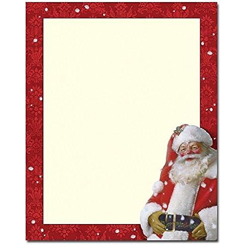Navidad papelería alegre St, Nick artisticamente Laser y impresora de inyección invitación papel