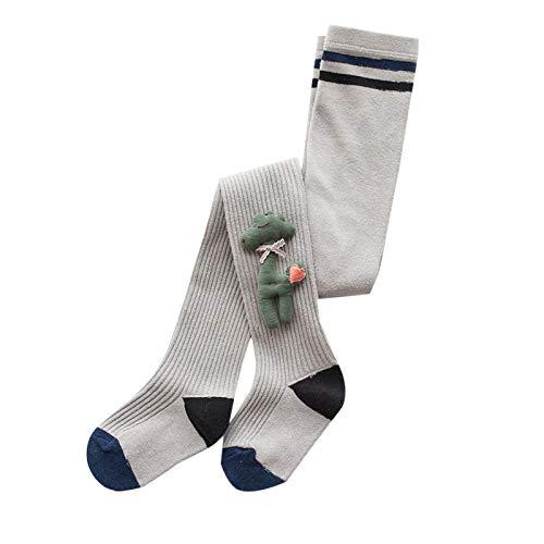 Elonglin kinder Strumpfhosen für Baby Mädchen Jungen Baumwolle Weich Leggings Grau 3-5 Jahre Alt