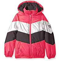 Skechers Girls' Little Sporty Heavyweight Jacket Coat, fandango pink, 6X