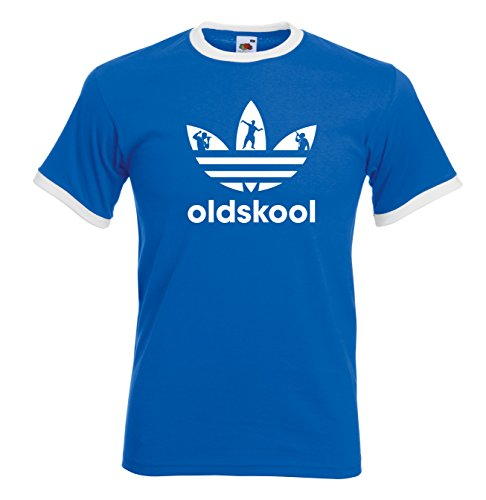 Old Skool Ringer adidas 90s acid house rave T-shirt