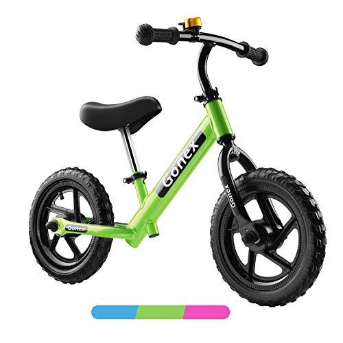 Gonex leichtes Laufrad ab 2 Jahre Junge 12 Zoll Balance Fahrrad ohne Pedal Kinderfahrrad mit Aluminiumrahmen und Eva-Schaumreifen für 2-5 Jahre alte Mädchen Junge Kinder - Grün