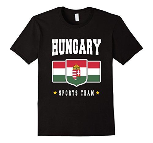Hungary T-shirt Magyarorszag Hungarian Flag Soccer Football Herren, Größe 3XL Schwarz Preisvergleich