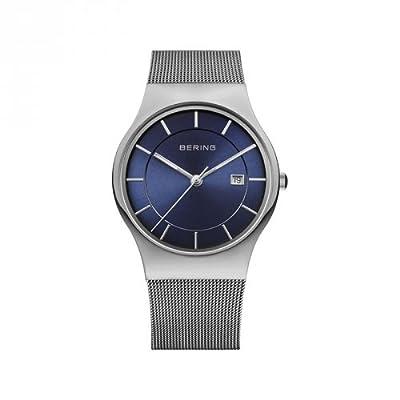 Reloj Bering Classic 11938-003 Hombre Azul Acero Calendario de Bering