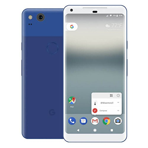 "Google Pixel 2 5 ""Single SIM 4G 4GB 64GB 2700mAh Negro, Azul - Smartphones (12.7 cm (5""), 64 GB, 12.2 MP, Android, 8, Negro, Azul)"