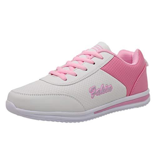 Yvelands Damen Sneakers Mode der Frauen Flache Mischfarben, die Sport-Schuh-Turnschuhe Laufen Lassen(Weiß,39)