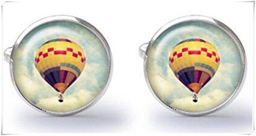 Boutons de manchette - Ballon - Air chaud - Boutons de manchette - Mariage - Boutons de manchette (Paire)