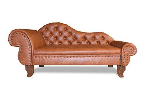EDY Diseño ED de prnb1Perros sofá Paris Recamiere Chesterfield Antiguo Brandy, XXL
