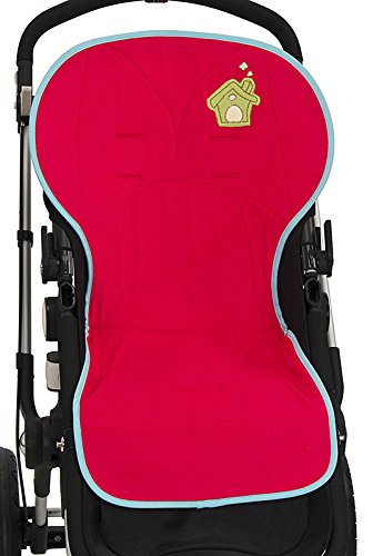 Colchoneta silla paseo universal BORDADA transpirable y suave. Funda válida para silla de AUTO y para TRONAS. Rizo Algodón 100%. KOKETES, MOBIBE, BEBELOVERS