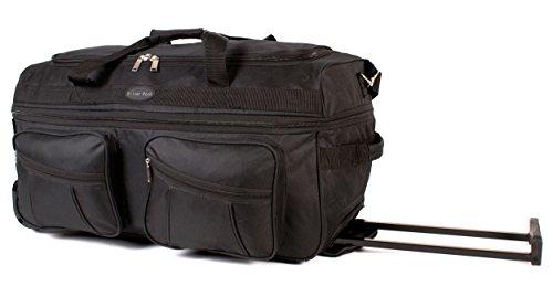 Ks-ex-100 68,6 cm Noir Extensible Grande taille sac à roulettes Sac de voyage