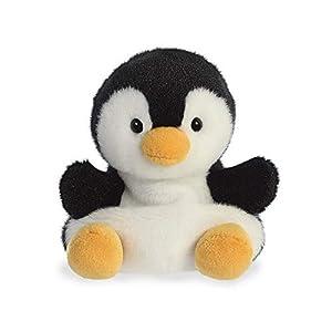 Aurora Palm Pets, Chilly The Penguin 33481, 5 Pulgadas, Color Blanco y Negro
