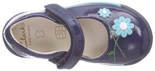Clarks Softly Jam Fst Unisex Baby Lauflernschuhe Blau (Navy Patent)