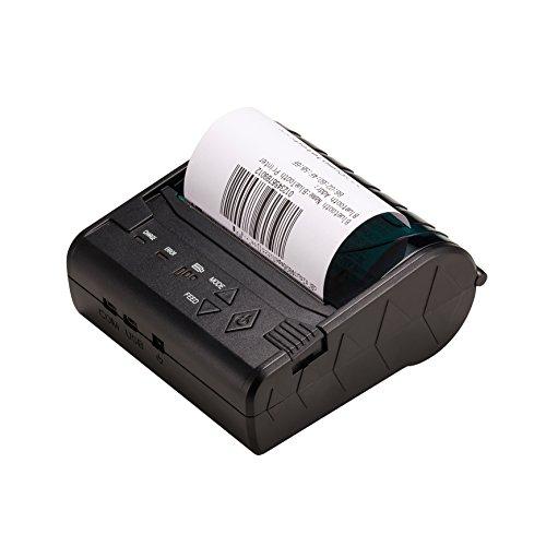 ZKTeco Mini Bluetooth Imprimante Thermique Receipt Imprimante à Réception Facture 80mm ZKTeco