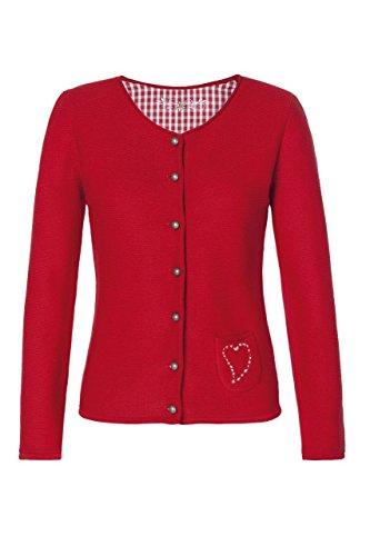 Stockerpoint - Damen Trachten Strickjacke, Rosali, Größe:34;Farbe:Rot