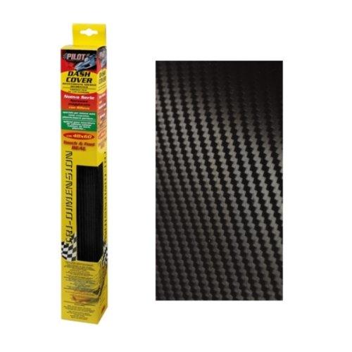 2957 - lámina de carbono , etiqueta engomada del coche de fibra de carbono vinilo de la película - Negro 48 x 60 cm , textura 3D para interior y exterior , protector del tope , Pegatina