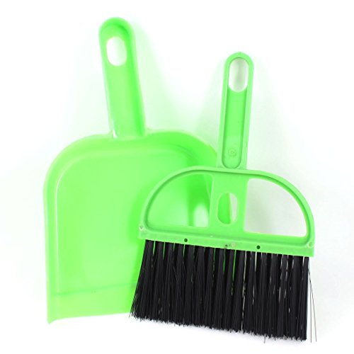 Price comparison product image Kcopo Hand Brush Dustpan and Brush Set Dust Pan and Brush Tool Office Home Car Cleaning Mini Whisk Broom Dustpan Green