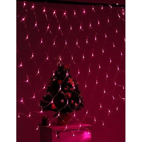 Dngy*Festival decorazione 120-LED 8-Modalità luce rosa Net