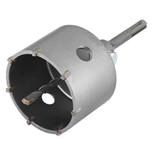Wolfcraft 5481000 Hohlbohrkrone mit Spanndorn SDS-Plus, hammerschlagfest ø 83