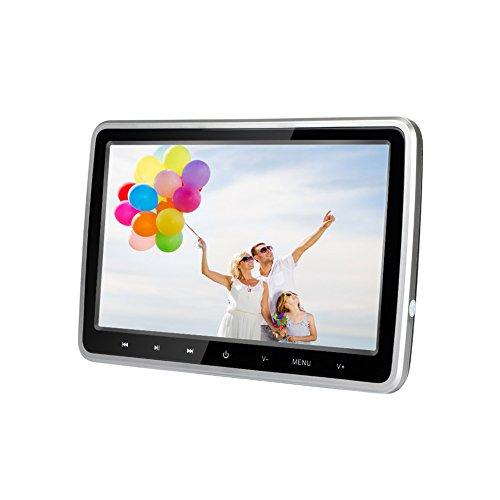 lettore dvd auto 10.1 pollici Ultra-Thin HD veicolo poggiatesta lettore DVD Monitor sedile posteriore nel sistema di intrattenimento per auto per bambini con HDMI USB SD Remote (CL101DVD)