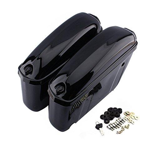 1 Paar Motorrad Trunk Boxen Starre Koffer Seitentaschen Schwarz
