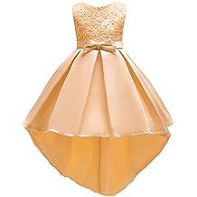 Vestito da Bambina Elegante Floreale Bowknot Festa di Carnevale Principessa  Abiti Damigella d Onore Sposa 2a28180982c