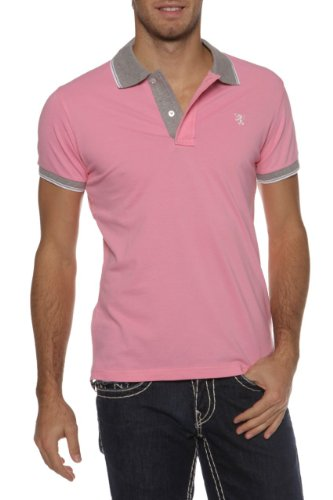 Williams Wilson Herren Shirt Poloshirt Colored Neck 2 Buttons Rosa