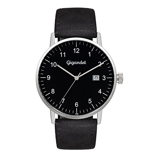 Gigandet Minimalism Men's Analogue Wrist Watch Quartz Silver Black G26-003