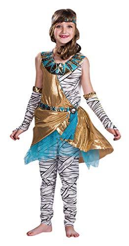 Mumie Mädchen Kostüm Kinder - MOMBEBE COSLAND Mädchen Ägyptische Mumie Kostüm (Mummy, S)
