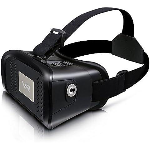Nuova versione del 3d Virtual Reality Headset Video Gaming occhiali, Smartphone, adatto per cellulare 3,5 A 6,0 inch Rift Nero