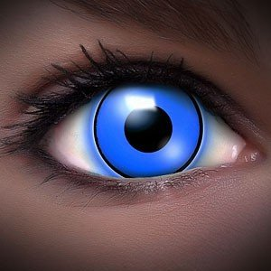 FUNZERA®UV Lentilles de Contact de Couleur Bleue