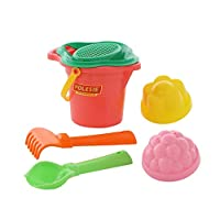 Polesie 2982 150, Flower Sieve, Shovel, Rake No.2, 2 Forms-Sets: Lipped Bucket, Small, Multi Colour
