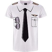 Funny World Männer Fancy Lotse Uniform T-Shirts
