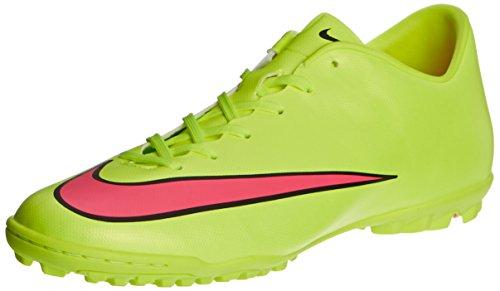 Nike  Mercurial Victory V Tf, Chaussures de football pour homme volt-hyper pink-black Amarillo (volt/hyper pink-black 760)