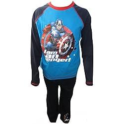 Los pijamas Big Boy del Avengers Capit¨¢n Am¨¦rica tienen entre 9 y 10 a?os de edad