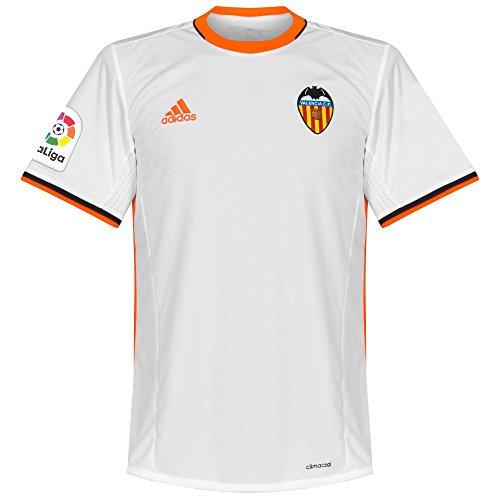adidas 1ª Equipación Valencia CF Camiseta, Hombre, Blanco, L