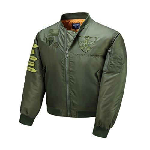 AVIDACE klassische Bomber Jacket Men Nylon gepolstert mit Patches Gesticktes - 2