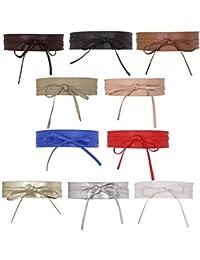 52318e071875e0 CHIC DIARY Damen Fashion Gürtel Breiter Taillengürtel Hüftgürtel  Bindegürtel Ledergürtel ...