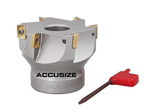 accusize–2–1/5,1cm X 3/10,2cm 90°. Quadratische flaschenschulter indexable Face Mühle w/APKT einfügen, # 4508–0016