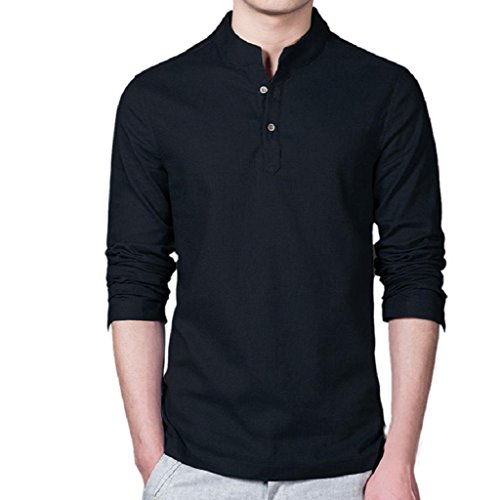 Herren Shirt Sonnena Long Sleeve Slim Fit Casual T-Shirts Bluse Shirt Top