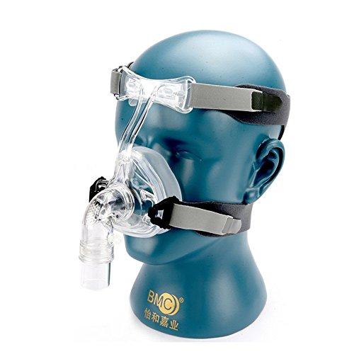 Cpap-maske Kopfbedeckung (BMC NM2Nasal Maske mit Kopfbedeckung und Head Pad S/M/L verschiedenen Größe passend für CPAP-Maschine OXYGENERATOR Connect Schlauch und Gesicht)