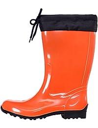 Lemigo - botas de lluvia adultos unisex , color Naranja, talla 3 UK