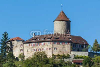 """Alu-Dibond-Bild 140 x 90 cm: """"Burg Reichenberg Oppenweiler"""", Bild auf Alu-Dibond"""