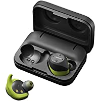 Jabra Elite Sport True Wireless Bluetooth Headset with Heart Rate and Activity Monitor - Lime Green/Grey